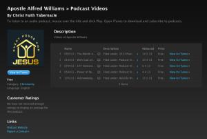 Apostle Williams - Video Section