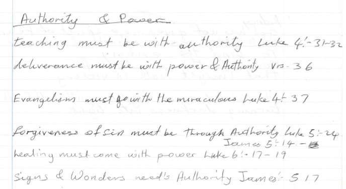 sermons notes