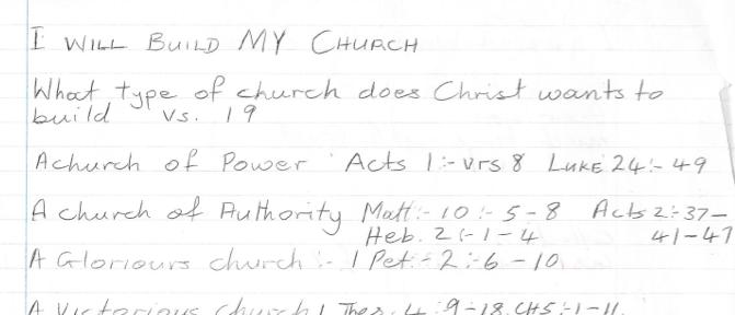 i will build my church, sermon notes