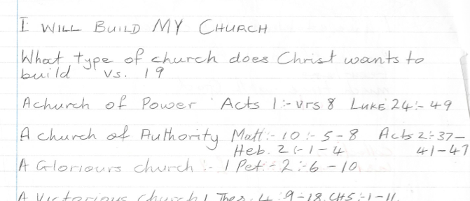 i will build my church, sermon notes